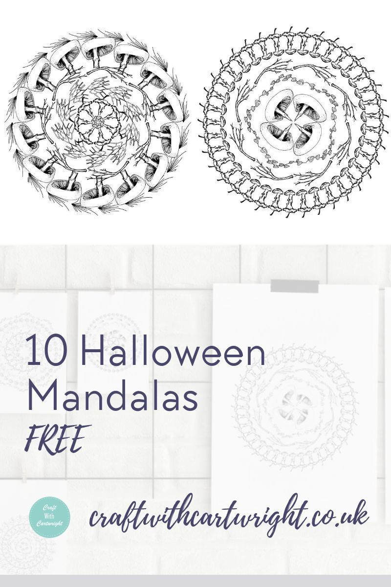 10 Halloween Mandala Free Colouring Pages Craft With Cartwright Halloween Coloring Pages Free Coloring Pages Colouring Pages