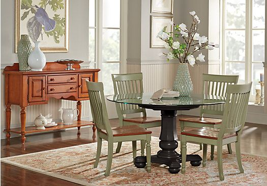 Shop For A Cindy Crawford Home Ocean Grove Black 5 Pc Glass Top Dining Room At Rooms To Go Find Sets That Will Look Great In Your And