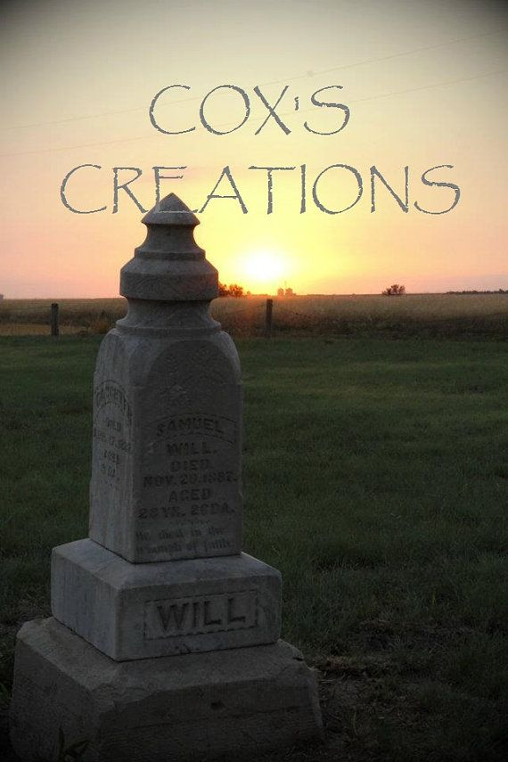 HEADSTONE SUNSET PRINT