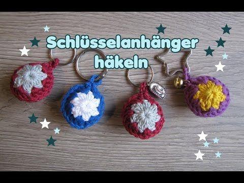 Bällchen Schlüsselanhänger Häkeln Diy Youtube A Crocheting