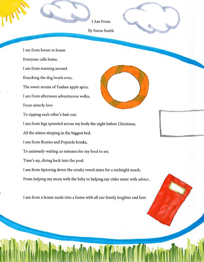 I am from poem - Sierra Smith