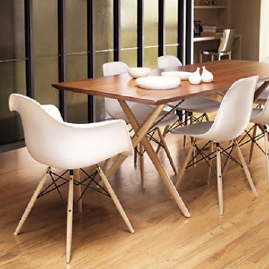 charles ray eames style daw arm chair white dining pinterest
