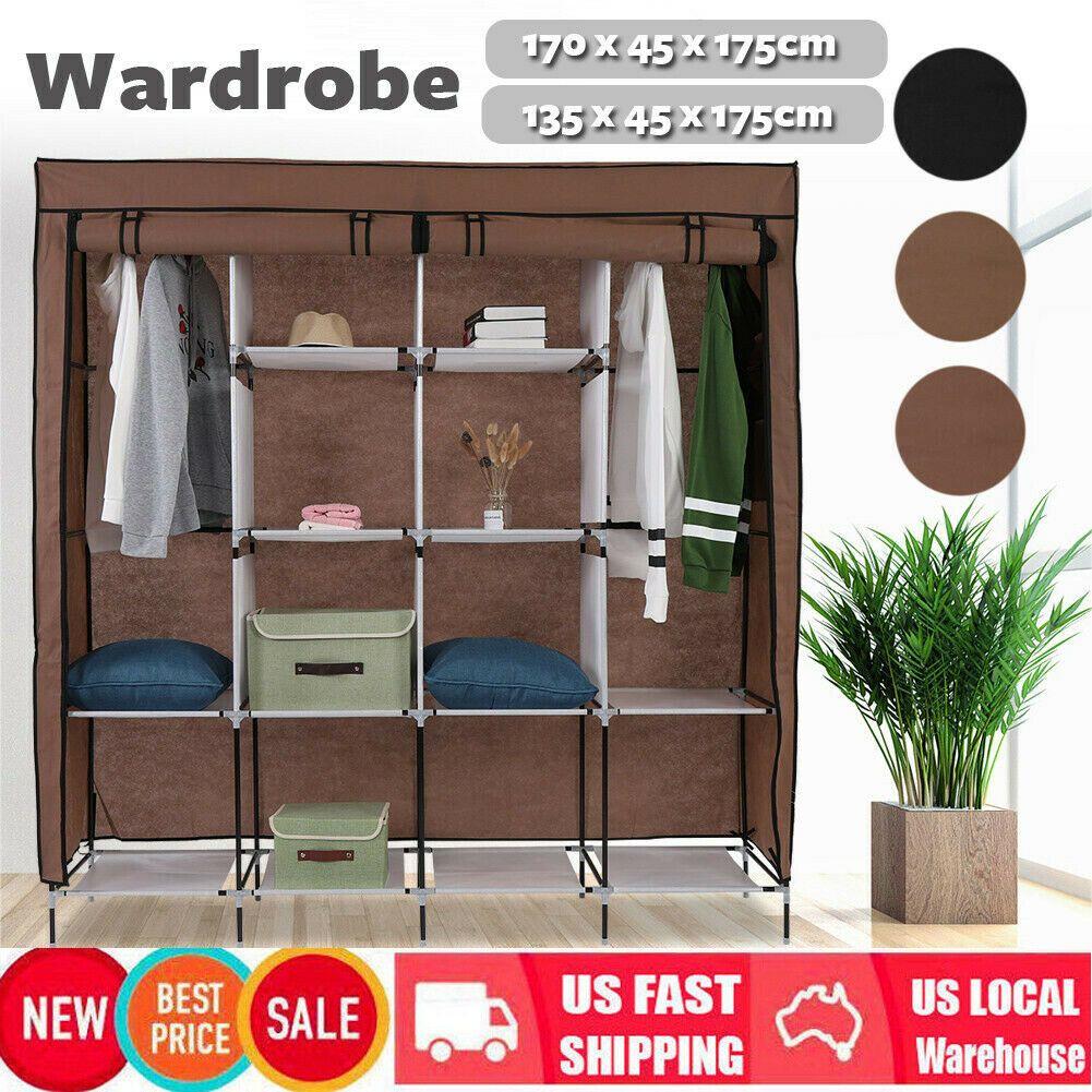 Details About 53 67 Closet Storage Organizer Clothes Wardrobe