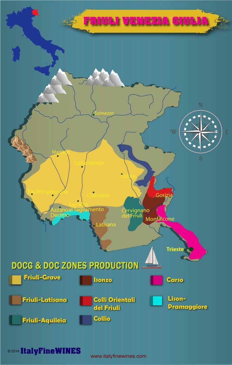 friuli venezia giulia wine region with details of doc and docg appellations. Download it at www.italyfinewines.com