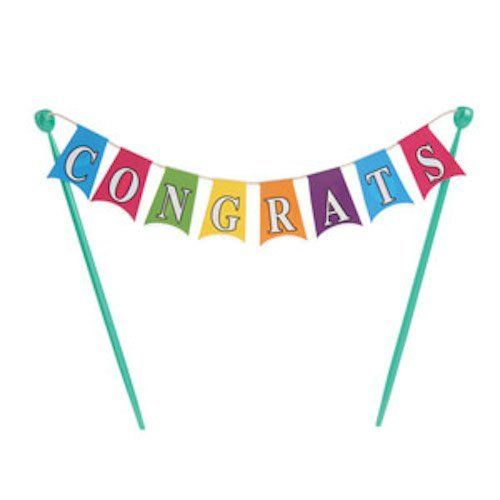 Congratulations Banner Cake Topper Decoration -- You can find out more details at the link of the image.