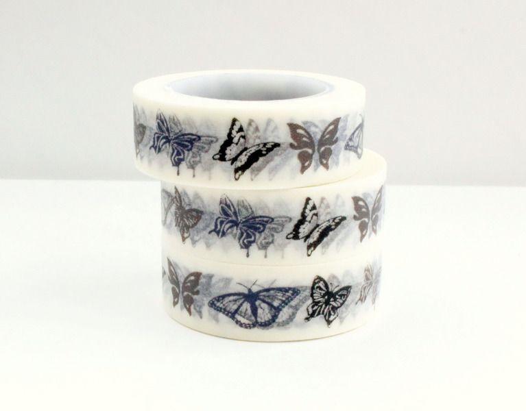 Washi Masking Tape VINTAGE SCHMETTERLINGE von GlückMich auf DaWanda.com