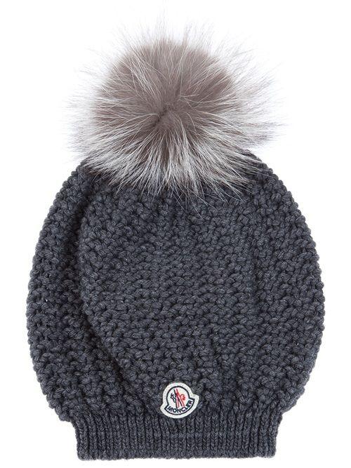 moncler fox fur pom hat