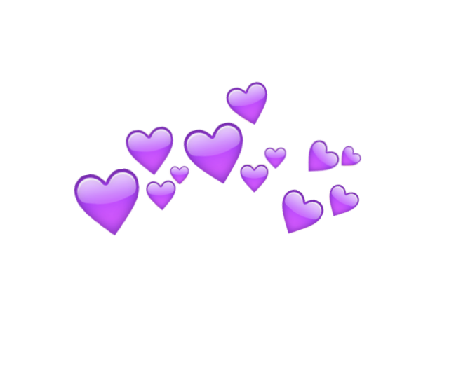 Hearts Crown Purple Violet Lilac Cute Pretty Aes Transparent Filler Moodboard Niche Aesthetic Overlay Png Purple Emoji Purple Aesthetic Overlays Picsart