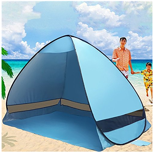 Quick Open Pop Up Tent Sun Beach Shelter Camping Garden Outdoor UV Protection