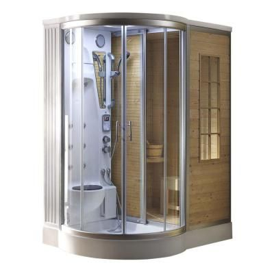 Steam Planet 64 In X 47 In X 86 In Steam Shower Enclosure Kit With Built In Traditional Sauna In Steam Shower Enclosure Home Steam Room Shower Enclosure Kit