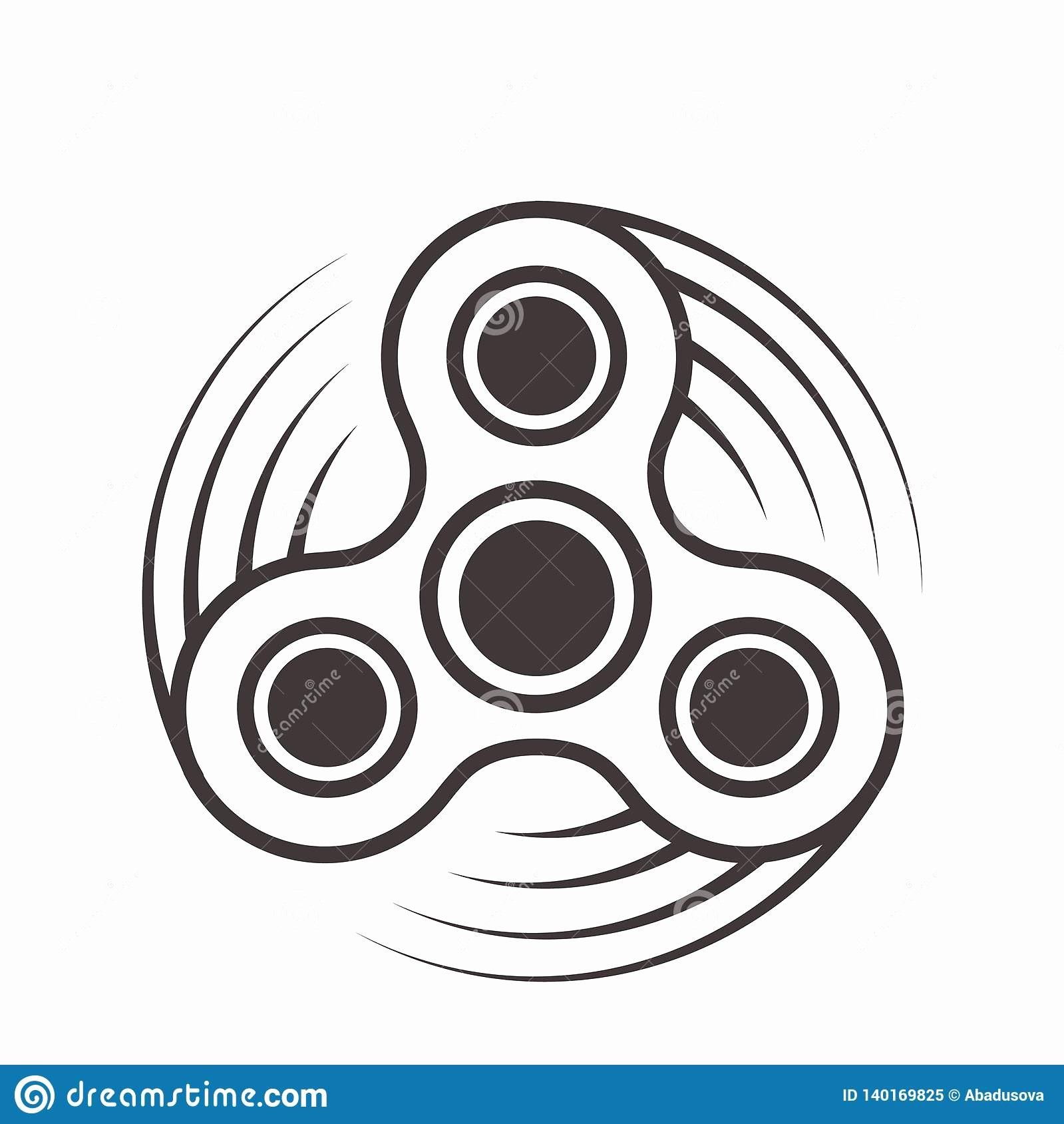 Fidget Spinner Coloring Page Elegant Fid Spinner Icon Toy For Stress Relief Improvement Attention Span Fi Dog Coloring Page Whale Coloring Pages Coloring Pages