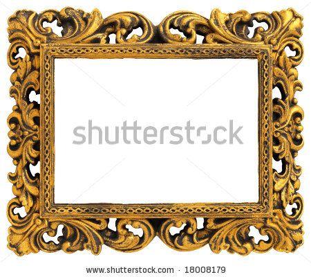 6ae3b1f62e85 Gold Frame Border Clip Art