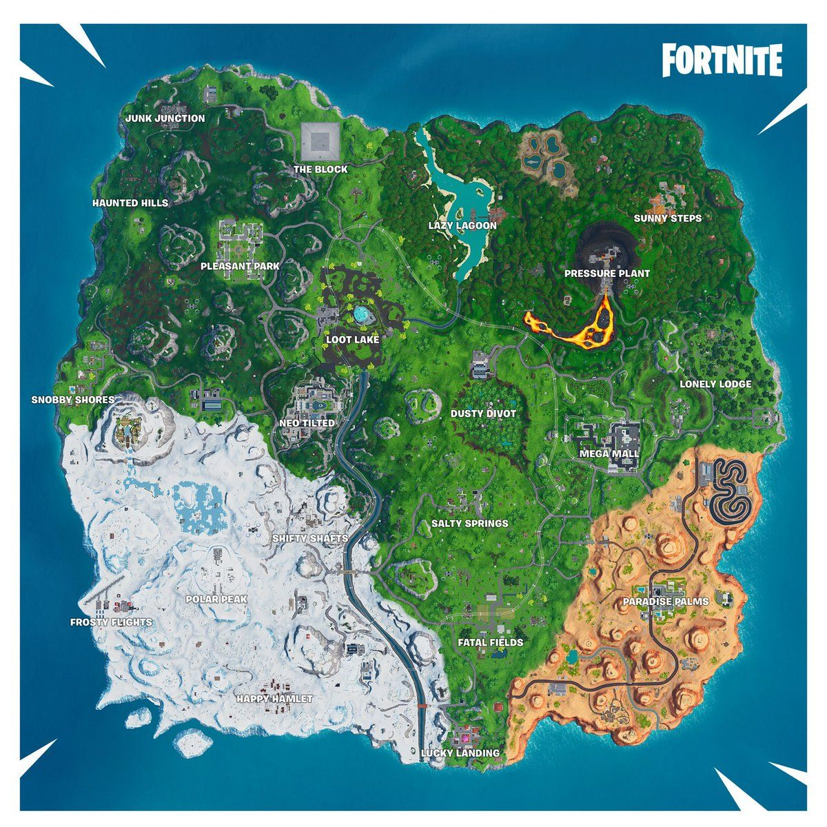 All Fortnite Season 9 (V9 00) Map Changes Neo Tilted Mega