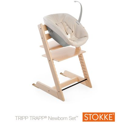 Tripp Trapp Newborn Set Beige De Stokke Chaises Hautes