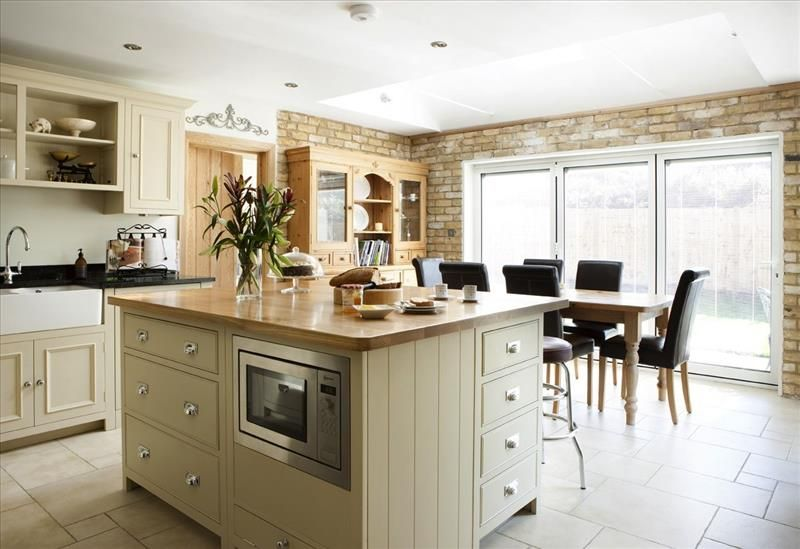 12 Large centre island with a mix of Neptune kitchen cabinets for a bespoke  look