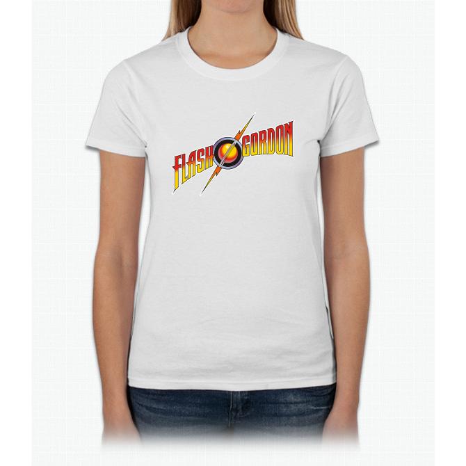 Flash Gordon Logo Retro Vintage Movie Bee Movie Womens T-Shirt
