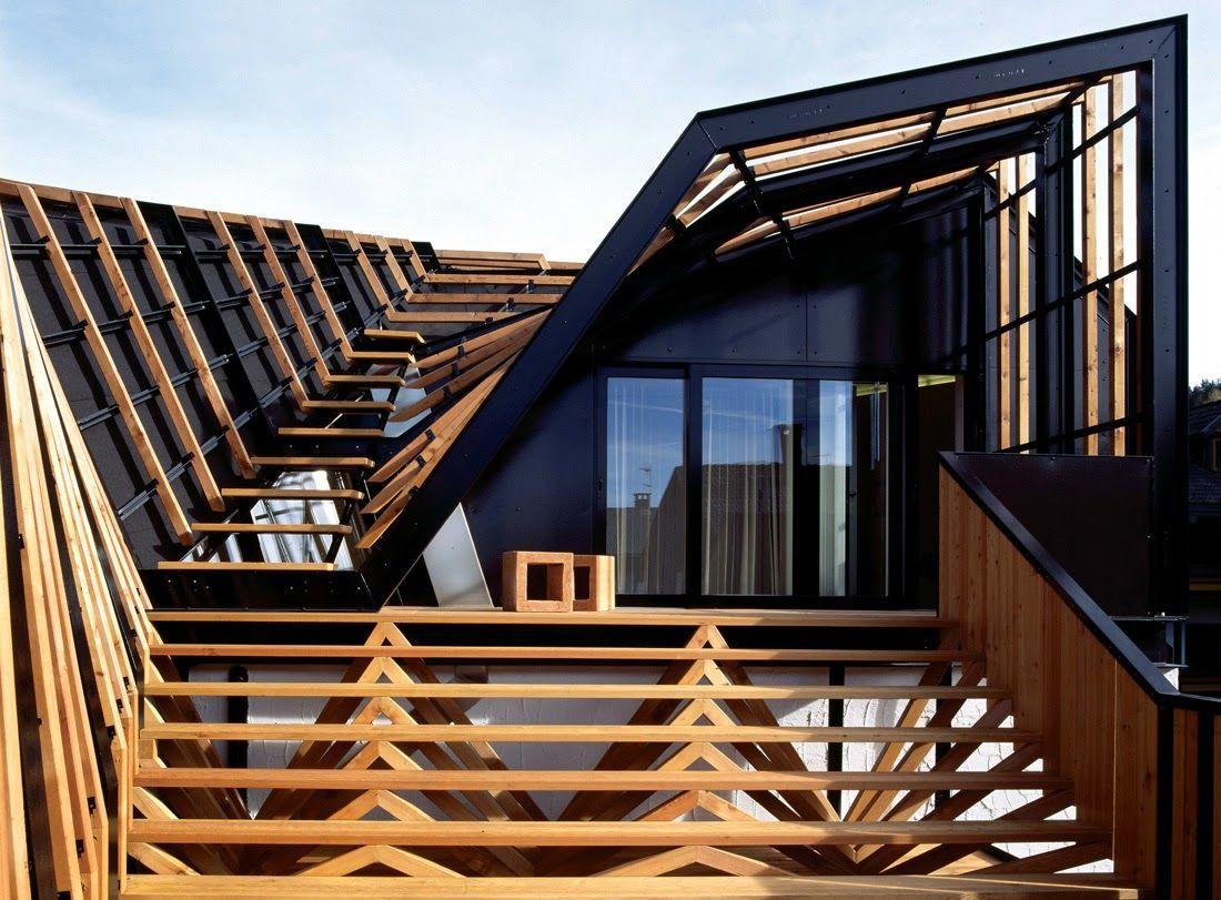 Cubierta Transitable Madera Arquitectura Exterior