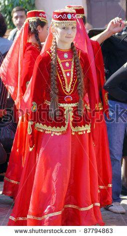 Tbilisi, Georgia - October 9: Participant Of Georgian Folk Autumn Festival - Tbilisoba, In Azerbaijan Traditional Costume Dancing Asma Kasma Dance, October 9, 2011 In Tbilisi, Georgia. Stock Photo 87794863 : Shutterstock