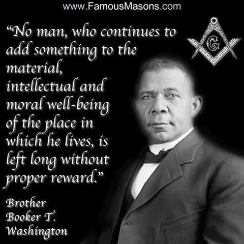B.T.Washington in 2020 | New quotes, Famous freemasons ...