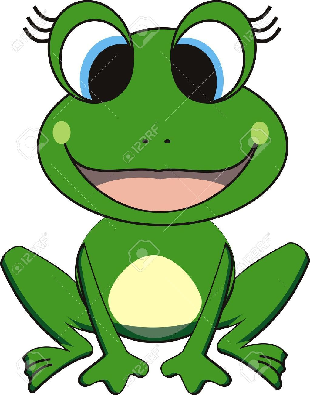 vector illustration of happy frog frogs pinterest frogs rh pinterest com