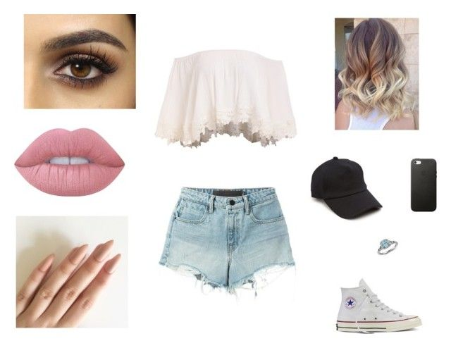 """""""Sans titre #276"""" by pauline02 ❤ liked on Polyvore featuring T By Alexander Wang, Converse, Lime Crime, rag & bone and Blue Nile"""