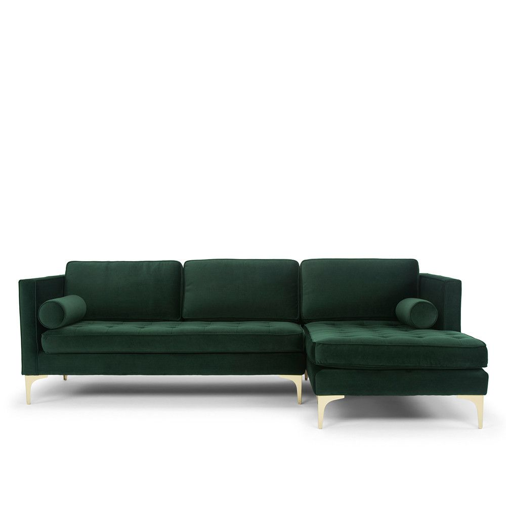 Bussi Corner Sofa Dark Green Rhf 3400