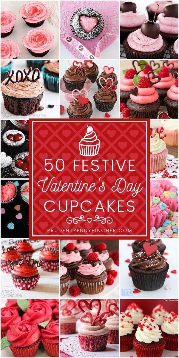 50 Festive Valentine's Day Cupcakes,  50 Festive Valentine's Day Cupcakes,