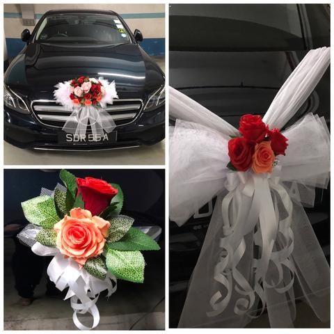 Bridal Car Decor WD524 in 2020 | Bridal car, Wedding car ...