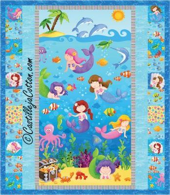 Little Mermaids Quilt Pattern CJC-4749 | under the sea/mermaid ... : mermaid quilts - Adamdwight.com