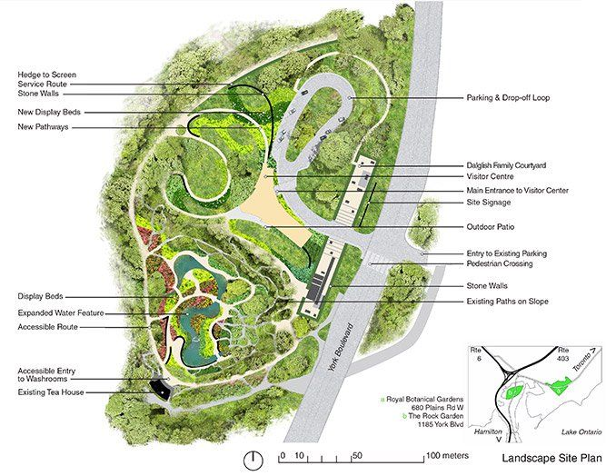 The New Rock Garden Offers A Fresh And Uniquely Canadian Horticultural Collection Landscape Design Plans Parking Design How To Plan