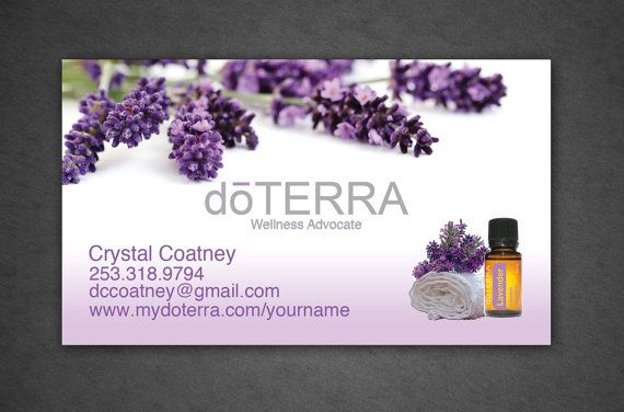 Printed Doterra Business Card Full Color By Crystalcoatney Doterra