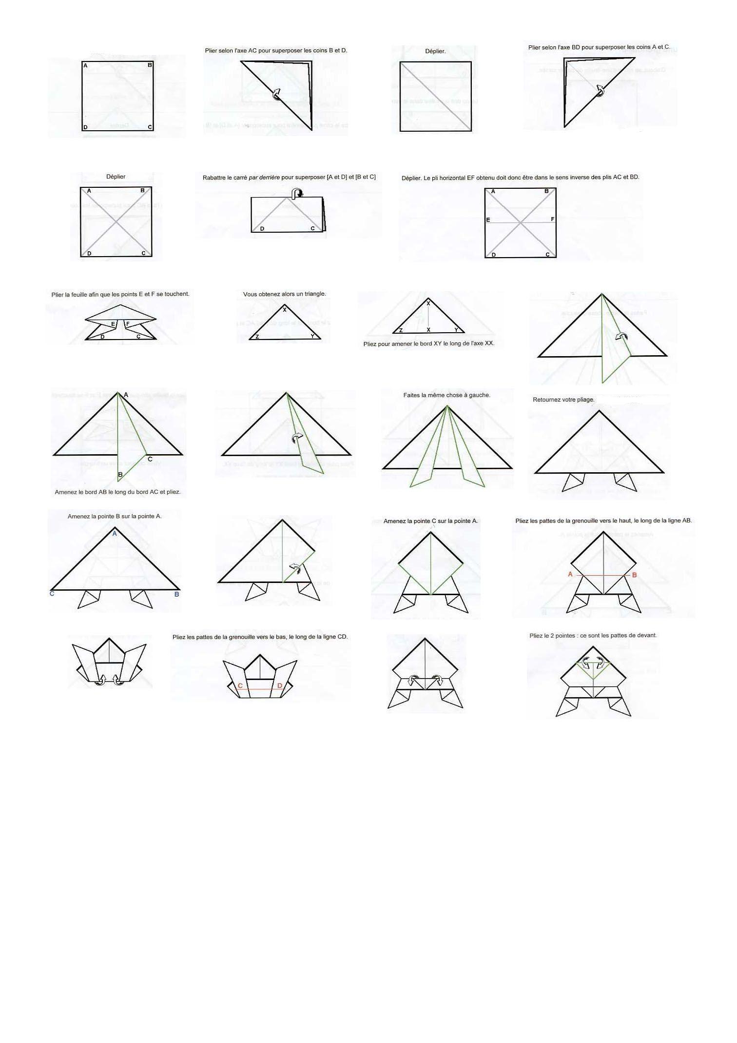 grenouille origamie grenouille origamie origami. Black Bedroom Furniture Sets. Home Design Ideas