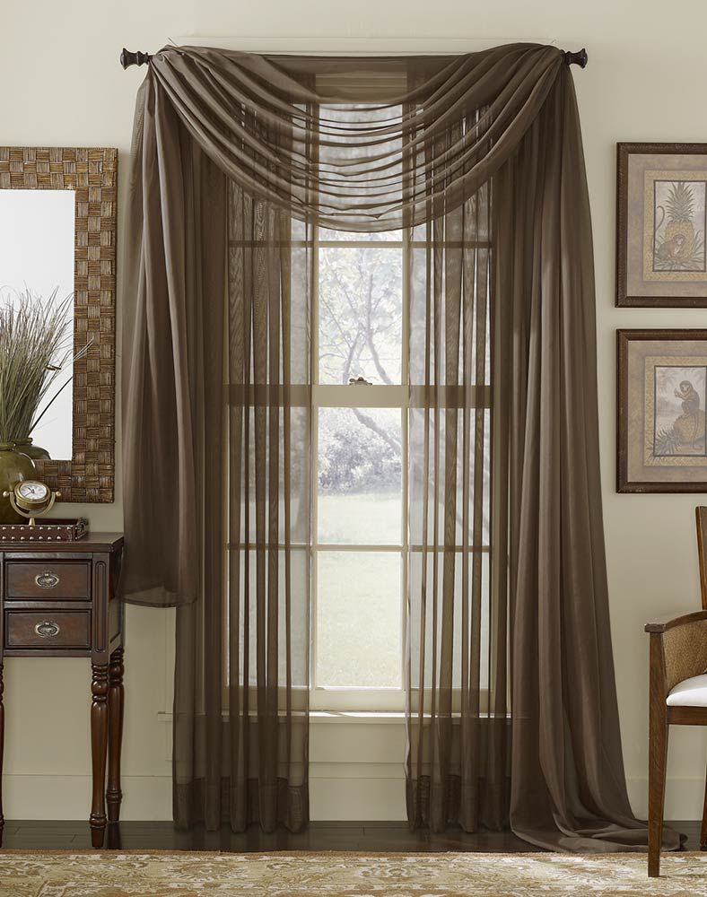 sheer curtains valance sale platinum voile flowing sheer