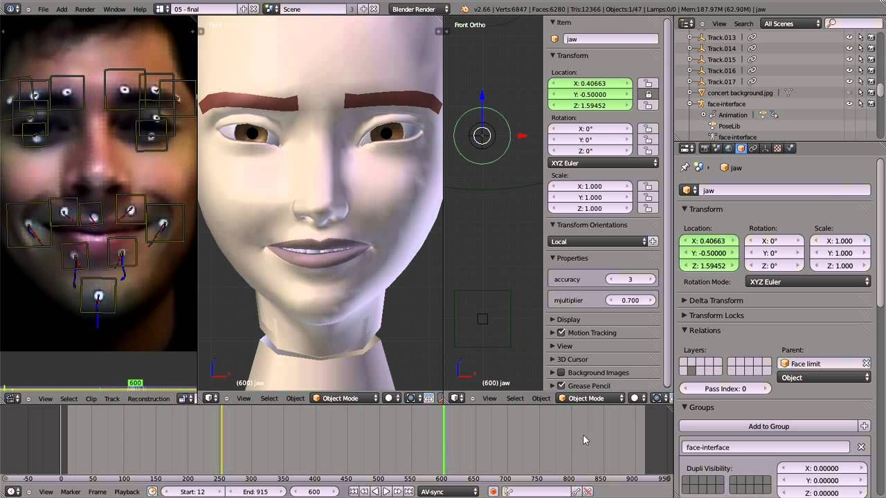 Cgi Facial Mocaptutorial Hd Facial Mocap Using Blender By Emilio Riquelme Blender Tutorial Blender 3d Modeling Tutorial