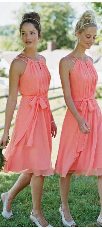 Coral for Debra  Brautjungfernkleid, Kleider hochzeit