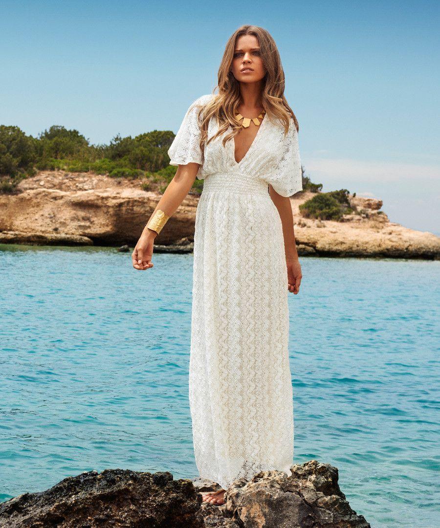 Tania cream crochet maxi dress Sale - Melissa Odabash   Summa summa ...