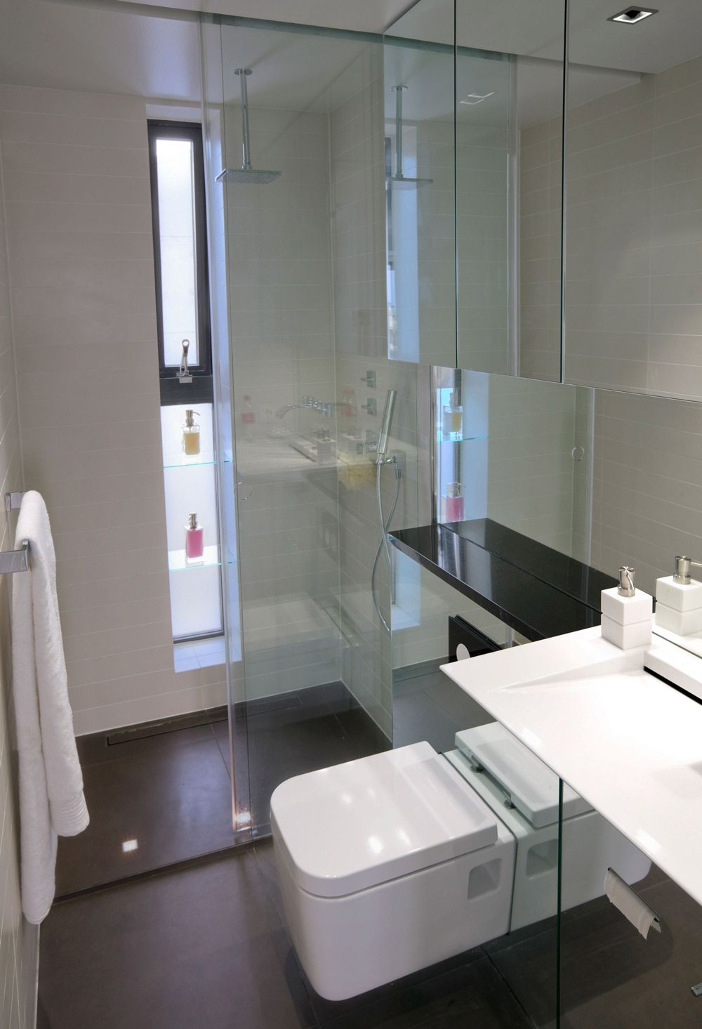 bathroom glass shower modern apartment in reykjavik iceland
