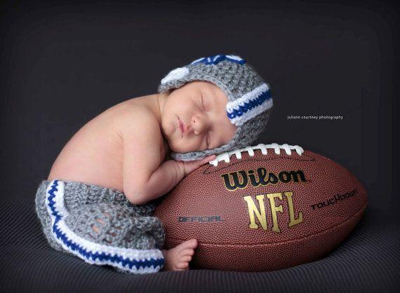 Crochet Dallas Cowboys Football Set....Includes Helmet, and ...