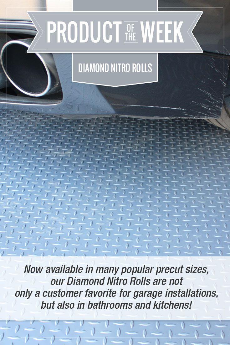 Diamond Nitro Rolls Premium Grade Vinyl Garage Floor Rolls Vinyl Garage Flooring Garage Floor Garage Installation