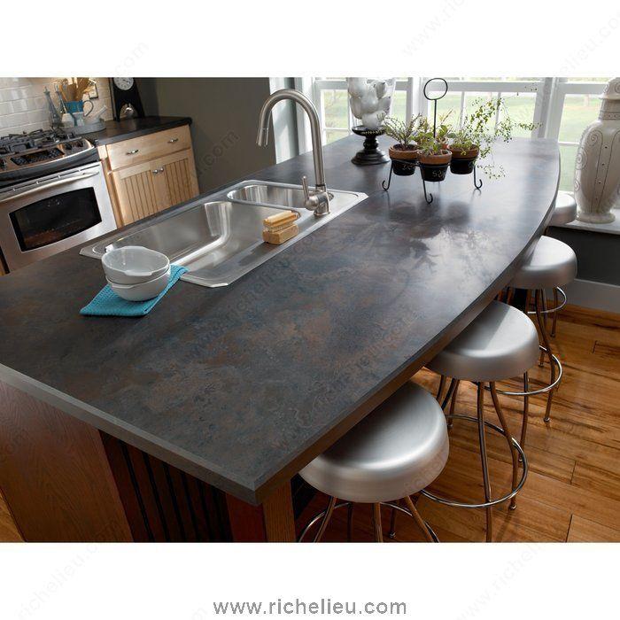 Rustic Slate 4888 Laminate W48883833532 Richelieu Hardware Kitchen Redo Kitchen Remodel Wilsonart Laminate Countertops