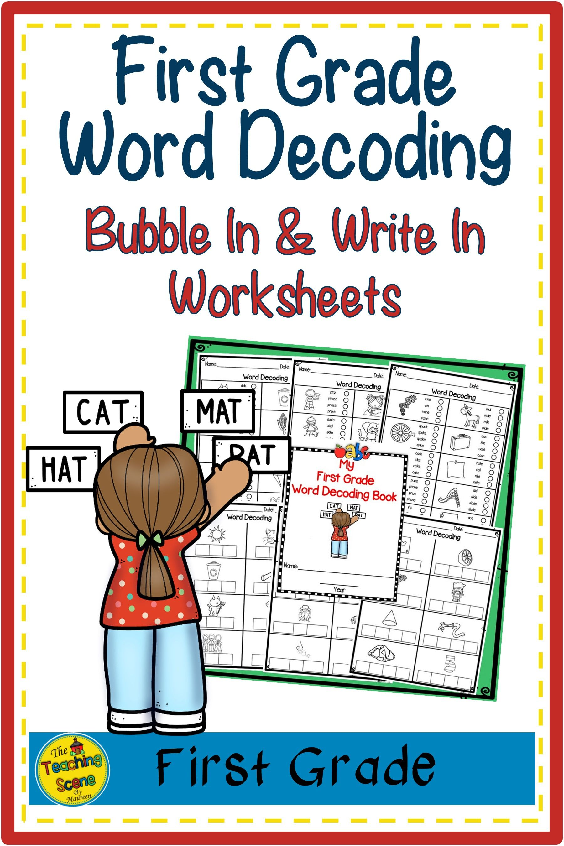 First Grade Word Decoding Worksheets In
