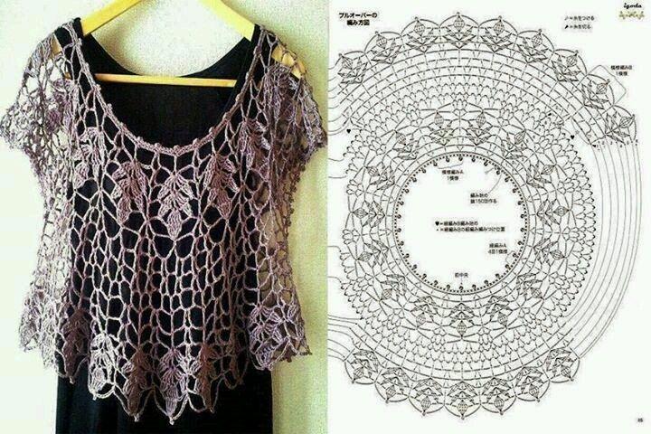 mi ba l de inspiraciones m s blusas con diagramas para tejer en crochet blusas pinterest
