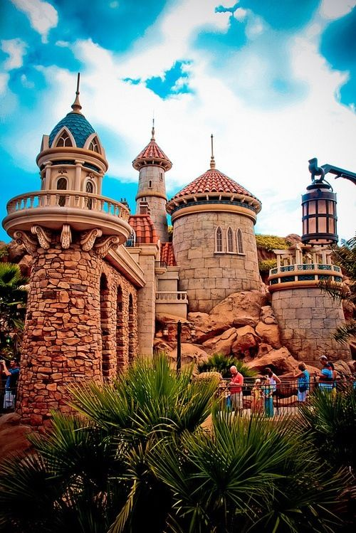 Prince Eric's and Ariel's castle in new Fantasyland