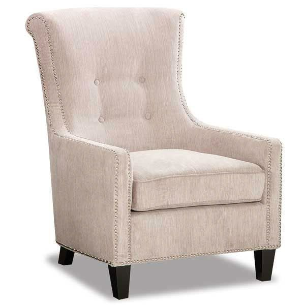 Classic Taupe Modern Accent Chair Acacia Accent Chairs