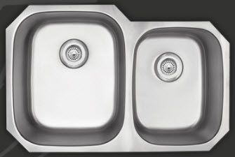 upgraded kitchen sink undermount double bowl 60 40 divider and rh pinterest com