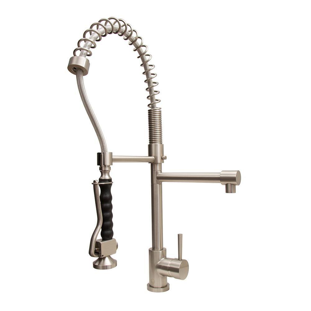 Vigo Zurich Single Handle Pull Down Sprayer Kitchen Faucet In