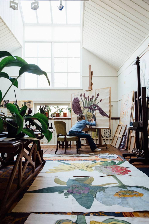 Artist Sarah Graham's London home and studio Art studio