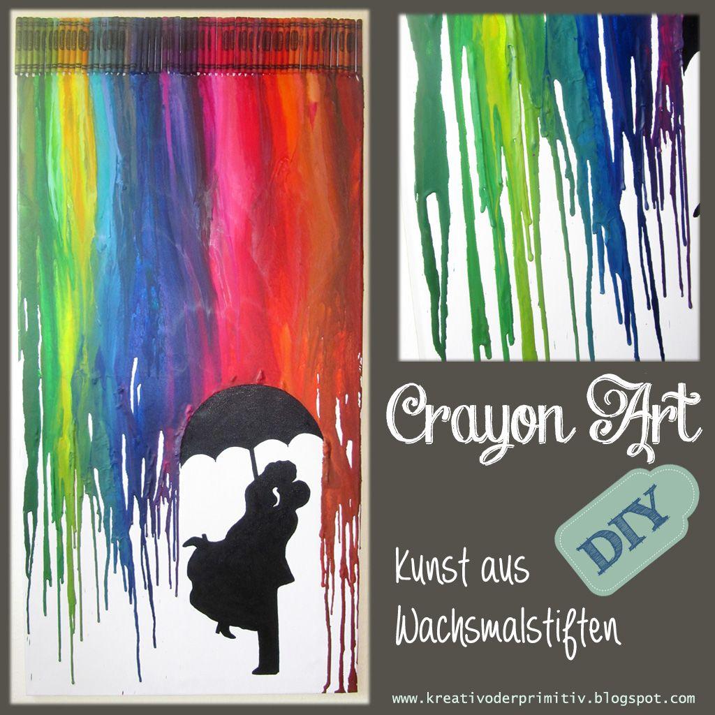 Crayon Art Wachsmalstifte schmelzen Kunst Föhn Hochzeit Geschenk ...