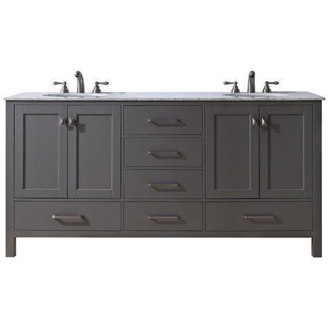 malibu 72 gray double sink bathroom vanity style 10h48 rh pinterest com