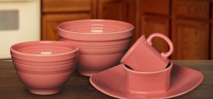 Fiesta® Flamingo Pretty in Pink! Homer Laughlin Fiestaware is a West Virginia Product. The outlet store is 67 miles up from Charleston! & Fiestaware... and look what the newest color is! Flamingo ...